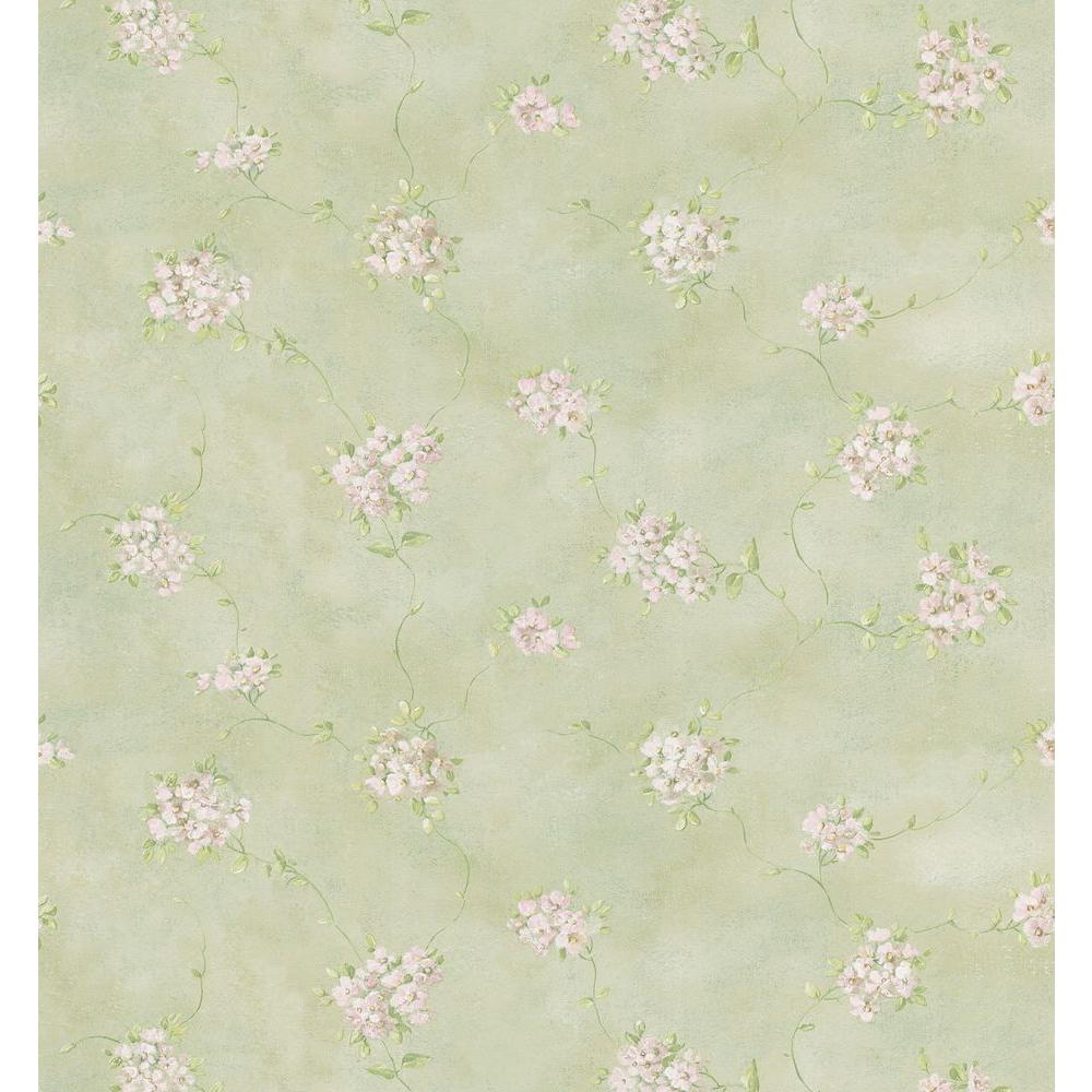 Brewster 56 sq. ft. Misty Floral Wallpaper-403-49274 - The Home Depot