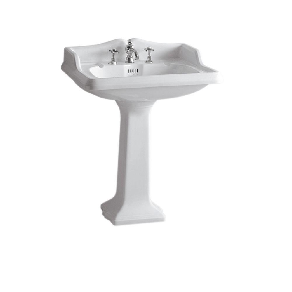 Large Pedestal Sink : Collection China Series Large Traditional Pedestal Combo Bathroom Sink ...