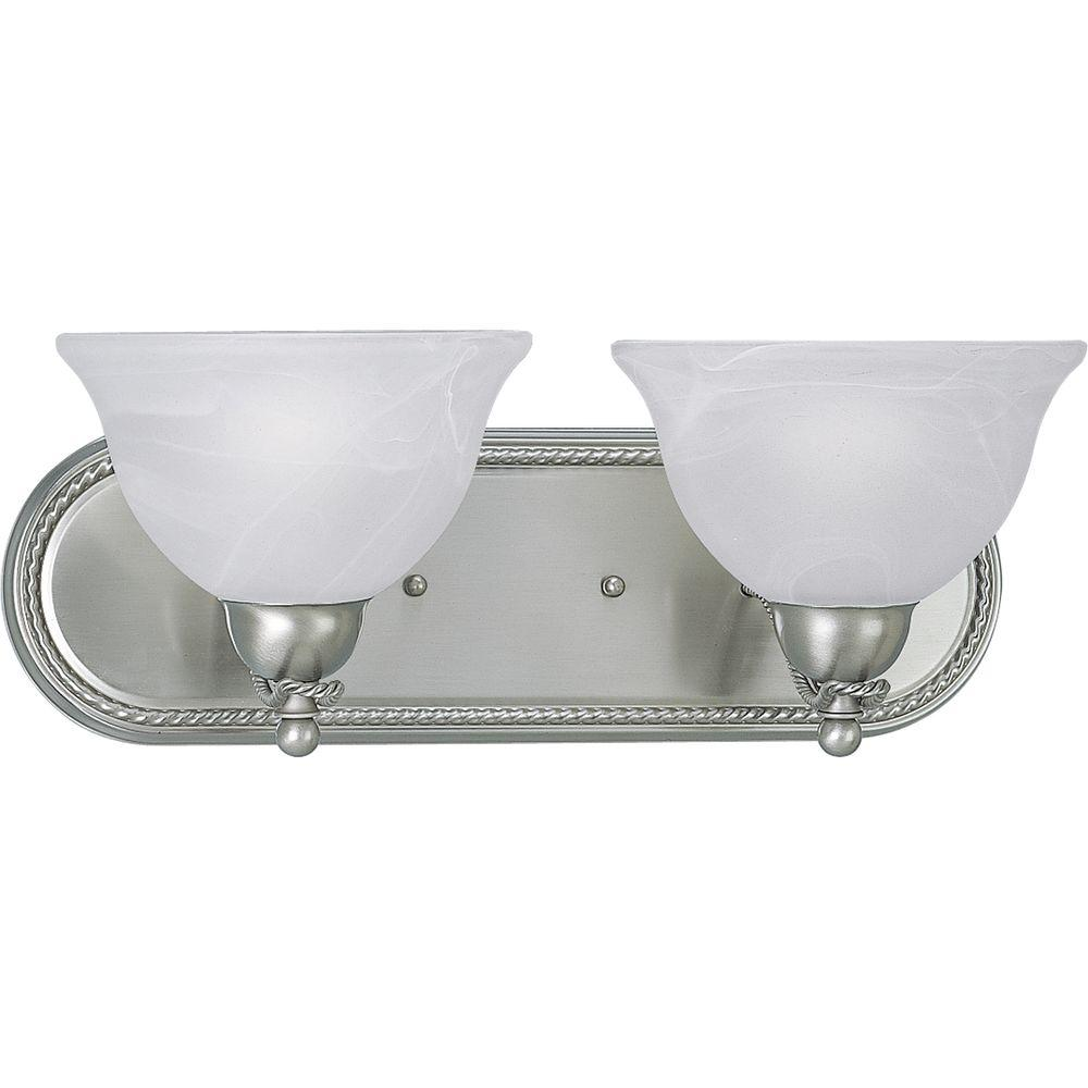 Avalon Collection 2-Light Brushed Nickel Vanity Fixture