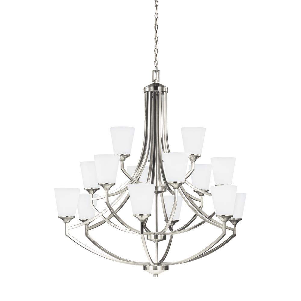 Hanford 15-Light Brushed Nickel Chandelier