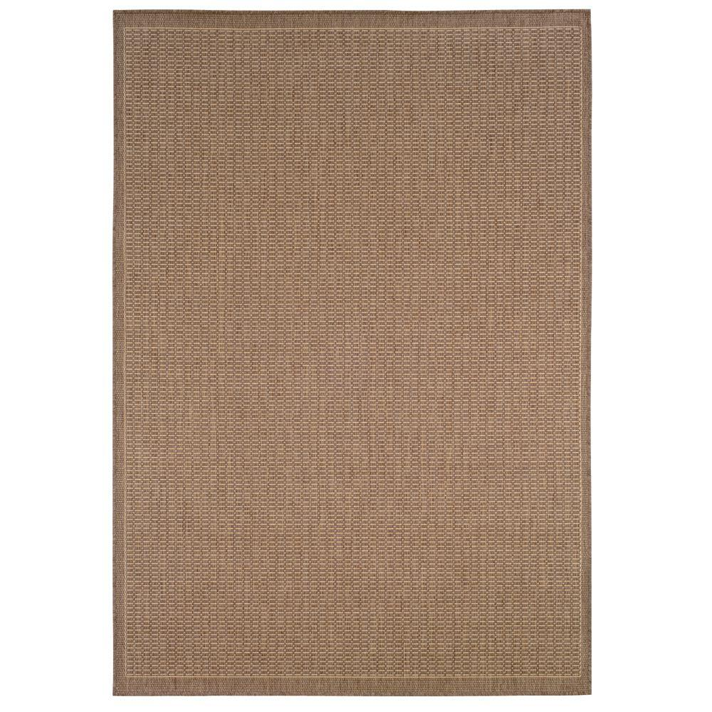 Home Decorators Collection Saddlestitch Cocoa/Natural 5 ft. 3 in. x 7