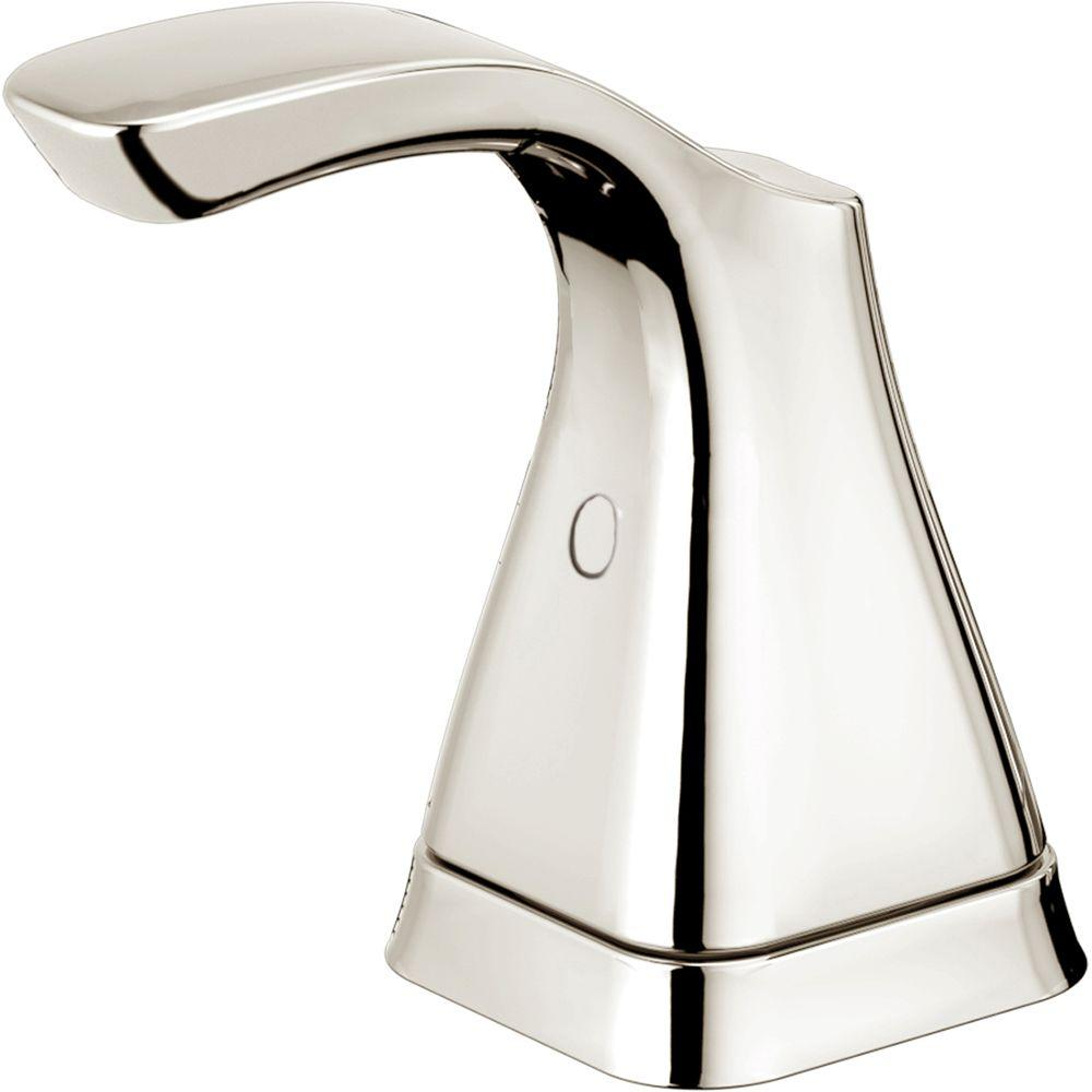 Delta Tesla Pair of Lever Handles for Bathroom Faucets in Polished