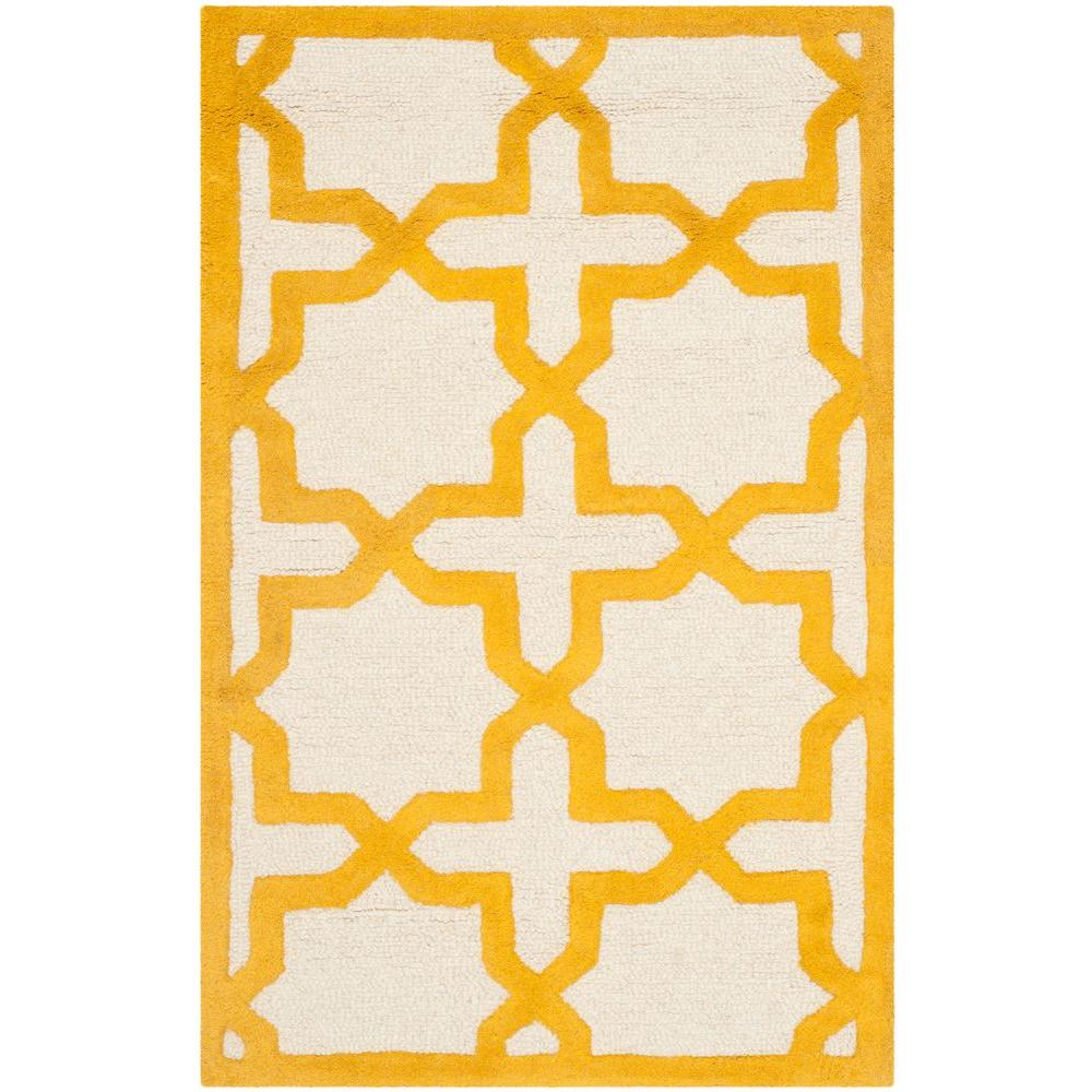 Cambridge Ivory/Gold 2 ft. x 3 ft. Area Rug