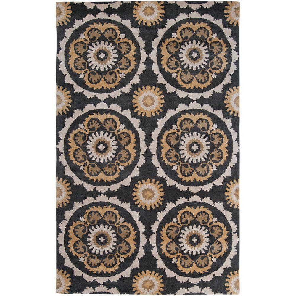 Surya B. Smith Charcoal 2 ft. x 3 ft. Accent Rug-MOS1063-23