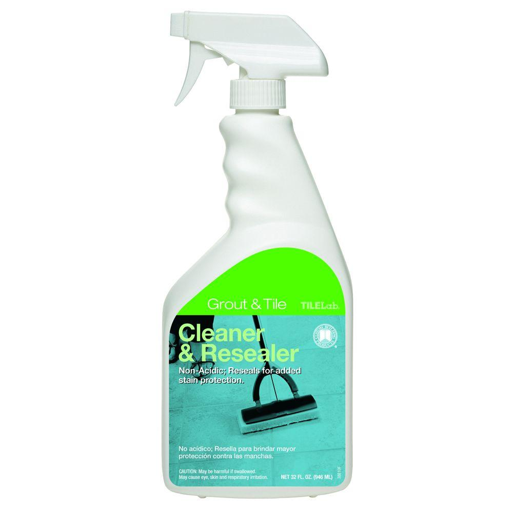 Custom Building Products TileLab 32 oz. Grout and Tile Cleaner and Resealer
