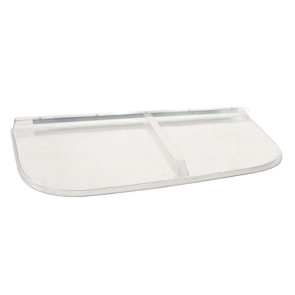 57 in. x 26 in. Polycarbonate U-Shape Window Well Cover