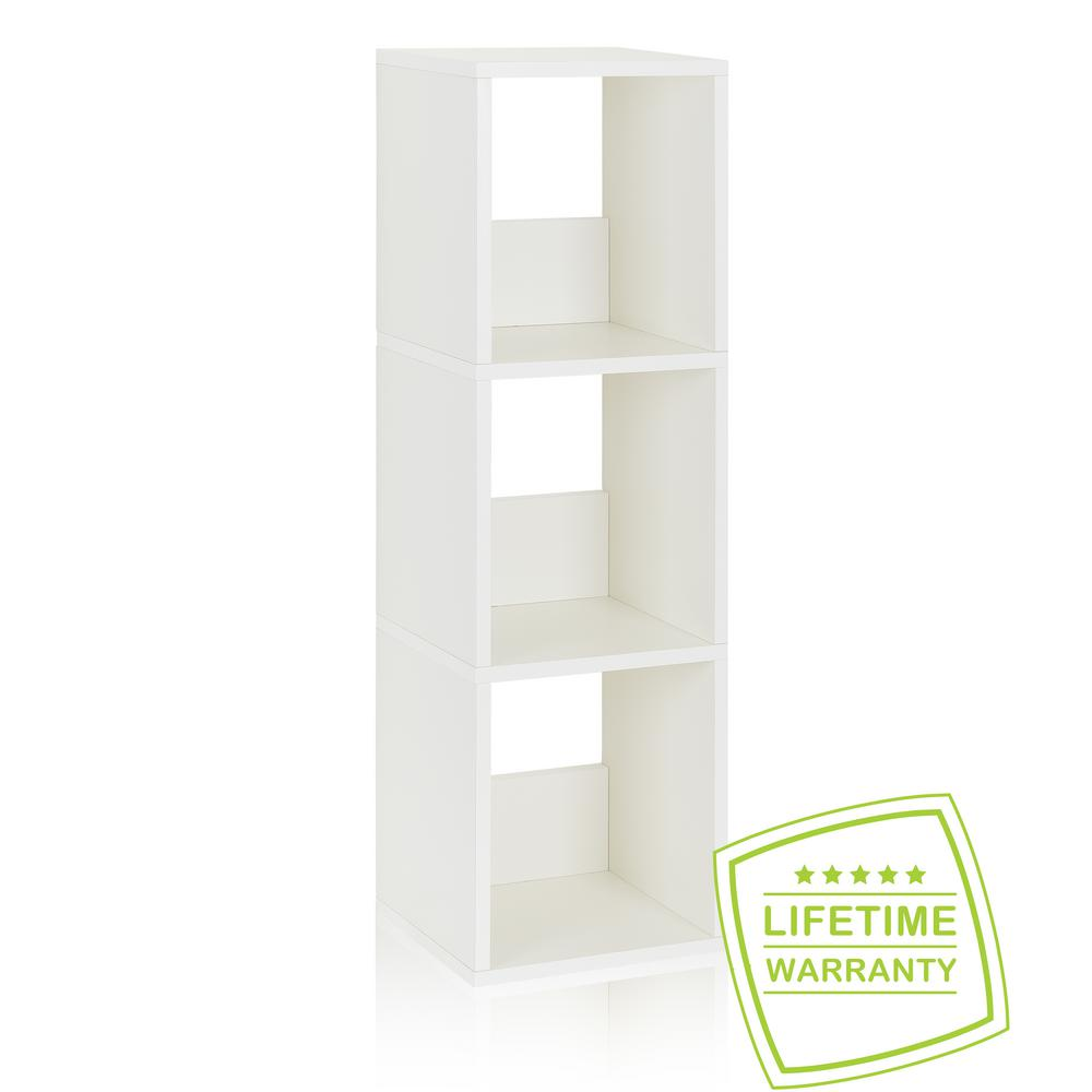 Trio White Open Bookcase