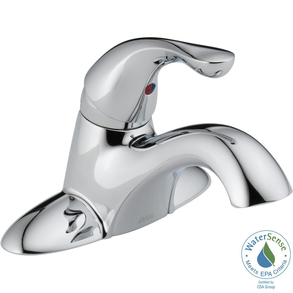 Classic 4 in. Single-Handle Bathroom Faucet in Chrome