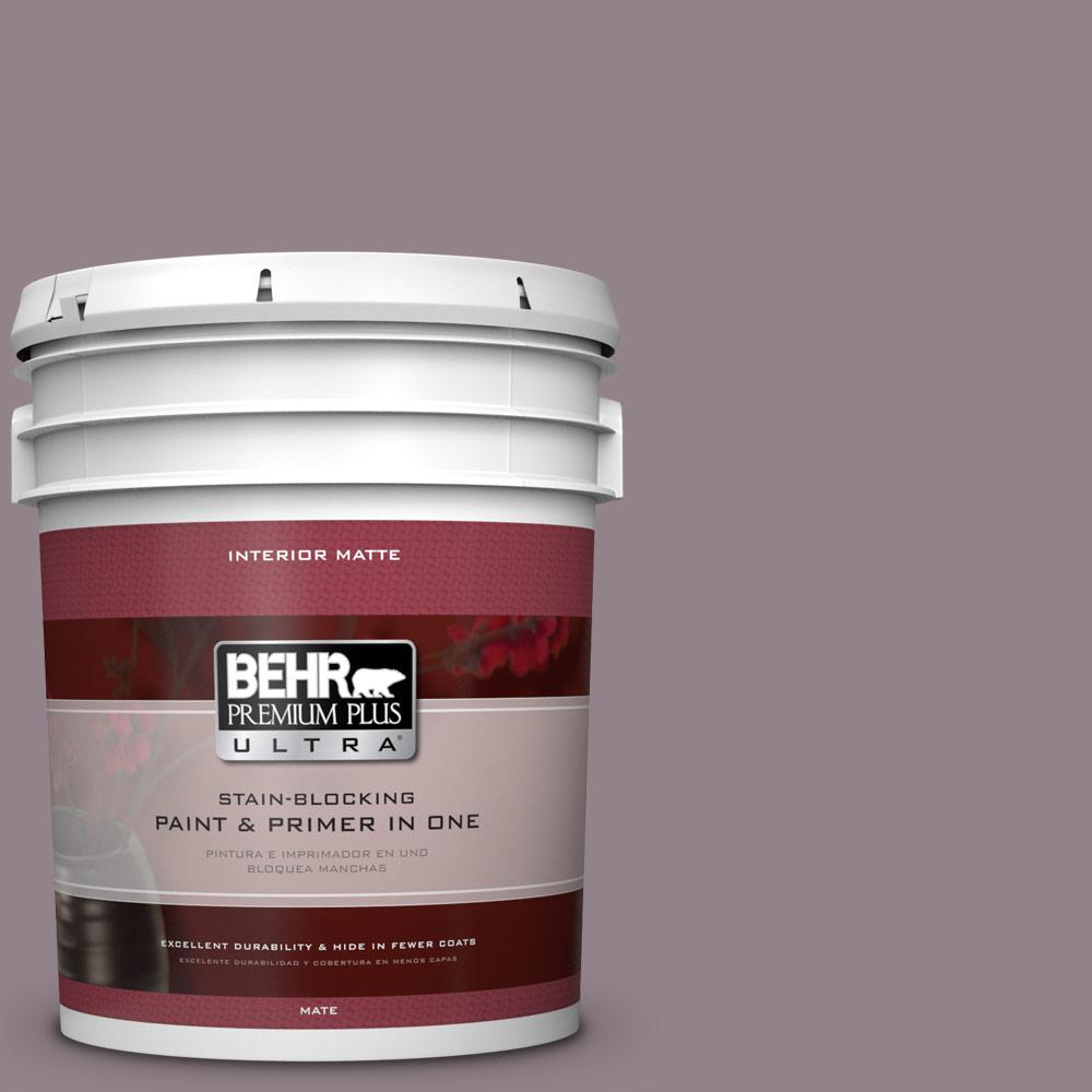 BEHR Premium Plus Ultra 5 gal. #N110-4 Gothic Purple Matte Interior