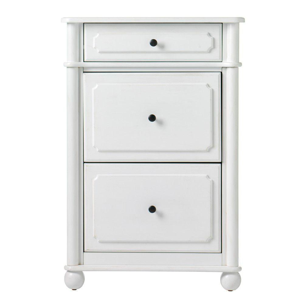 Home Decorators Collection 23.5 in. W Essex 2-Drawer Aged Cream Vertical File Cabinet
