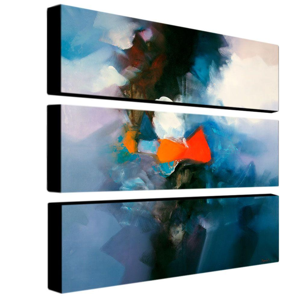 Trademark Fine Art 32 in. x 10 in. Abstract V 3-Piece Canvas Art Set
