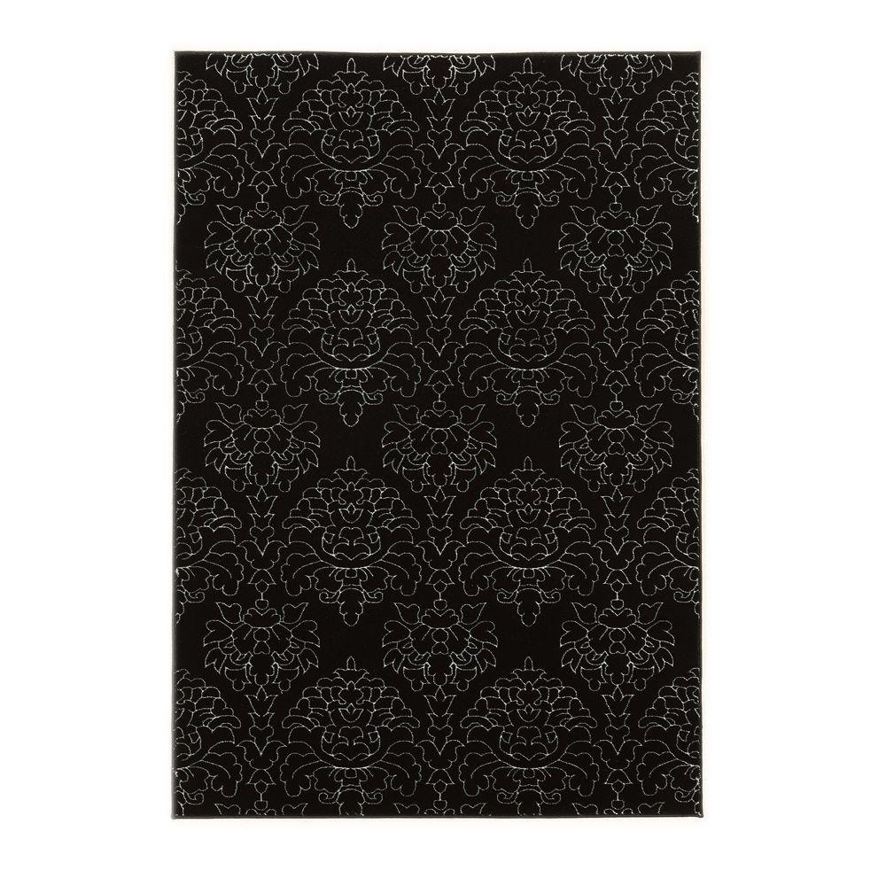 Linon Home Decor Prisma Chloe Black and White 2 ft. x 3 ft. Indoor Area Rug