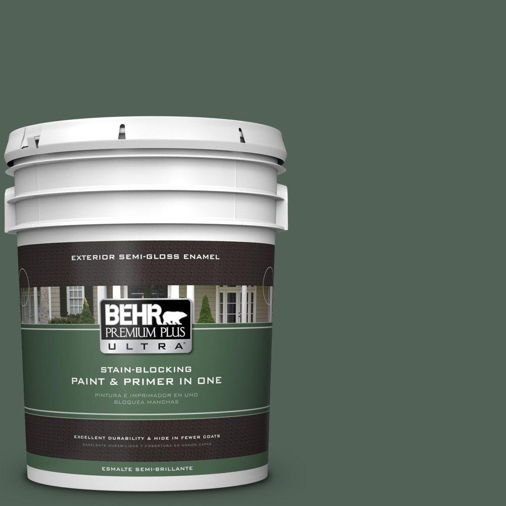 5-gal. #460F-6 Medieval Forest Semi-Gloss Enamel Exterior Paint