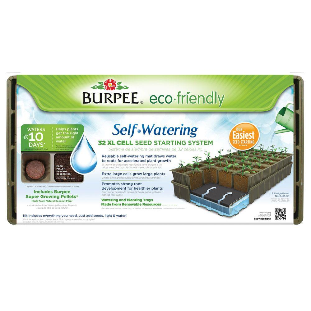 Burpee 32-Cell XL Eco Friendly Self-Watering Greenhouse Kit-97278 - The Home