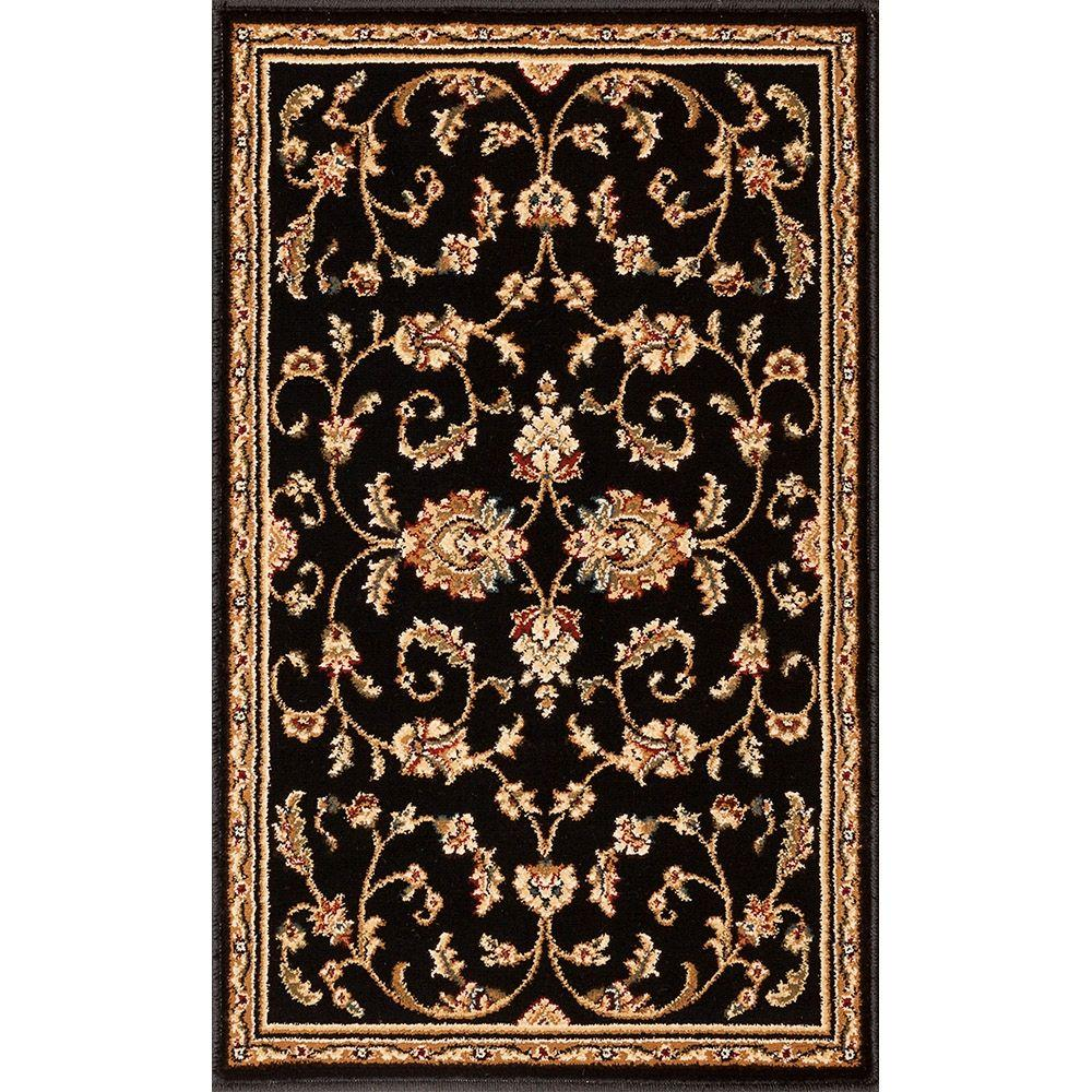 Annora Black 22 in. x 36 in. Accent Rug
