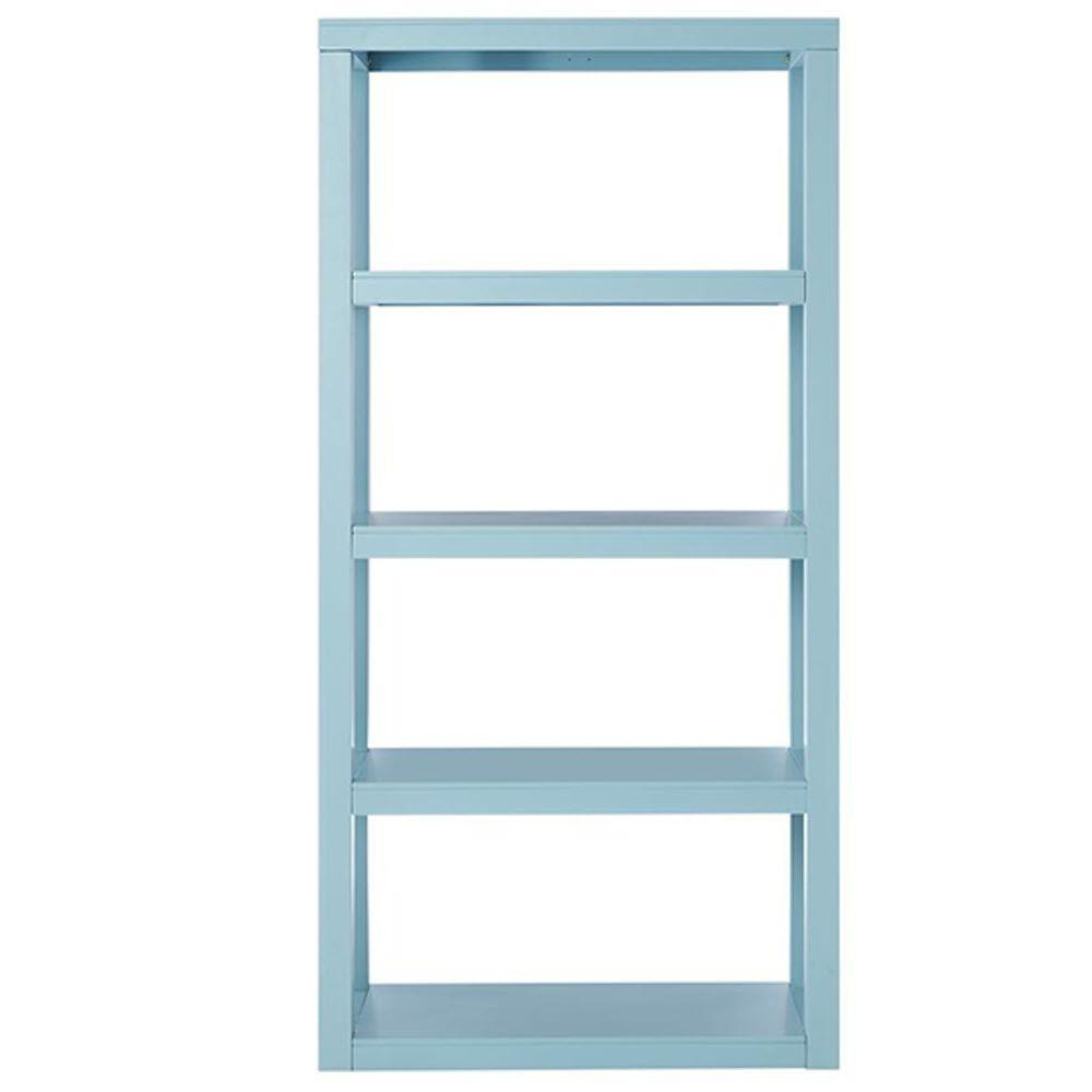 Home Decorators Collection Parsons 62 in. H x 30 in. W Bookcase in Blue