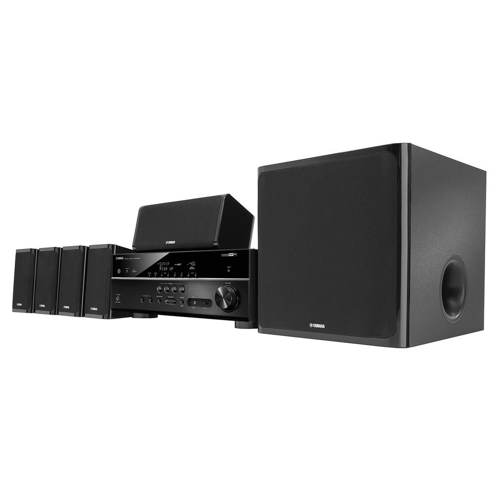 yamaha 5 1 channel home theater in a box system black. Black Bedroom Furniture Sets. Home Design Ideas