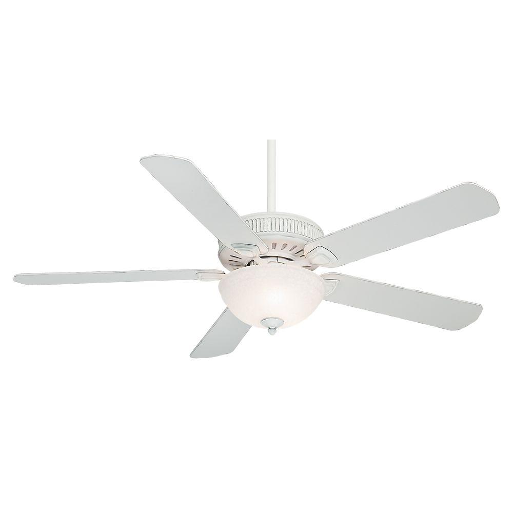 Casablanca Ainsworth Gallery 60 in. Cottage White Ceiling Fan with 4-Speed Wall-Mount Control
