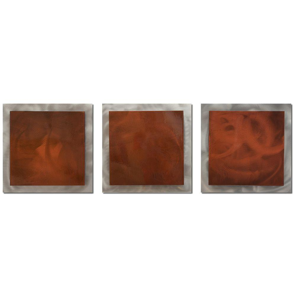 Brevium 12 in. x 38 in. Rusty Essence Metal Wall Art