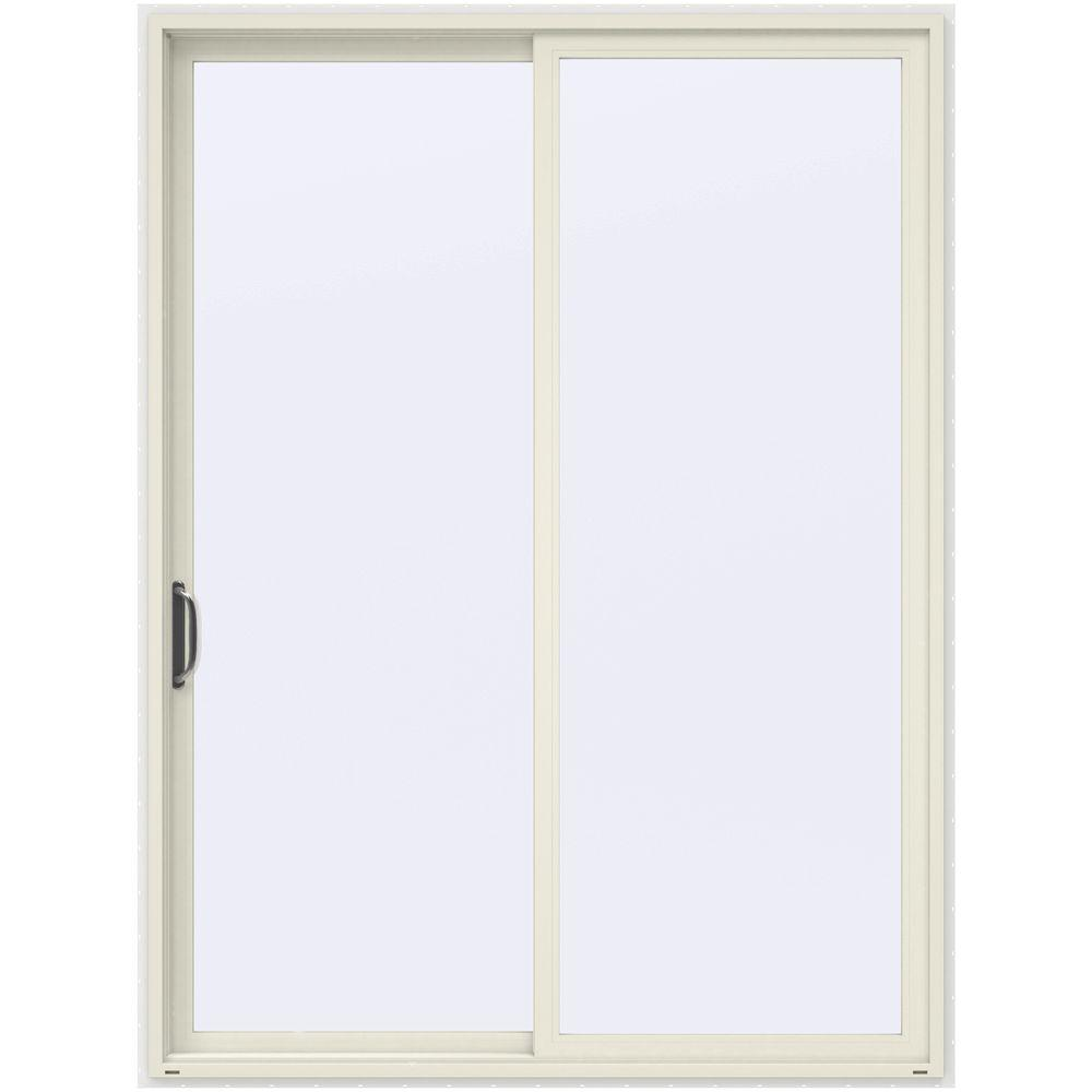Jeld wen 72 in x 96 in v 4500 french vanilla prehung for Sliding french doors home depot