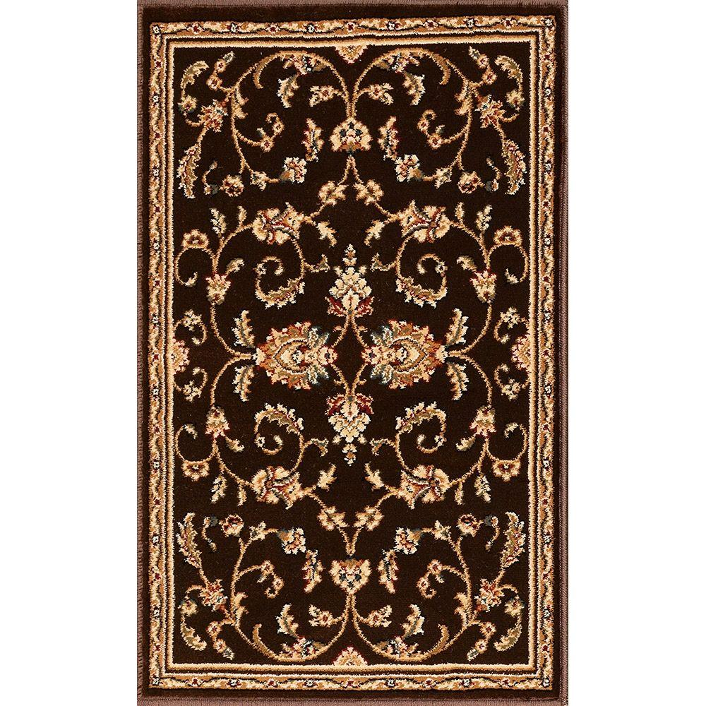 Natco Annora Brown 22 in. x 36 in. Accent Rug