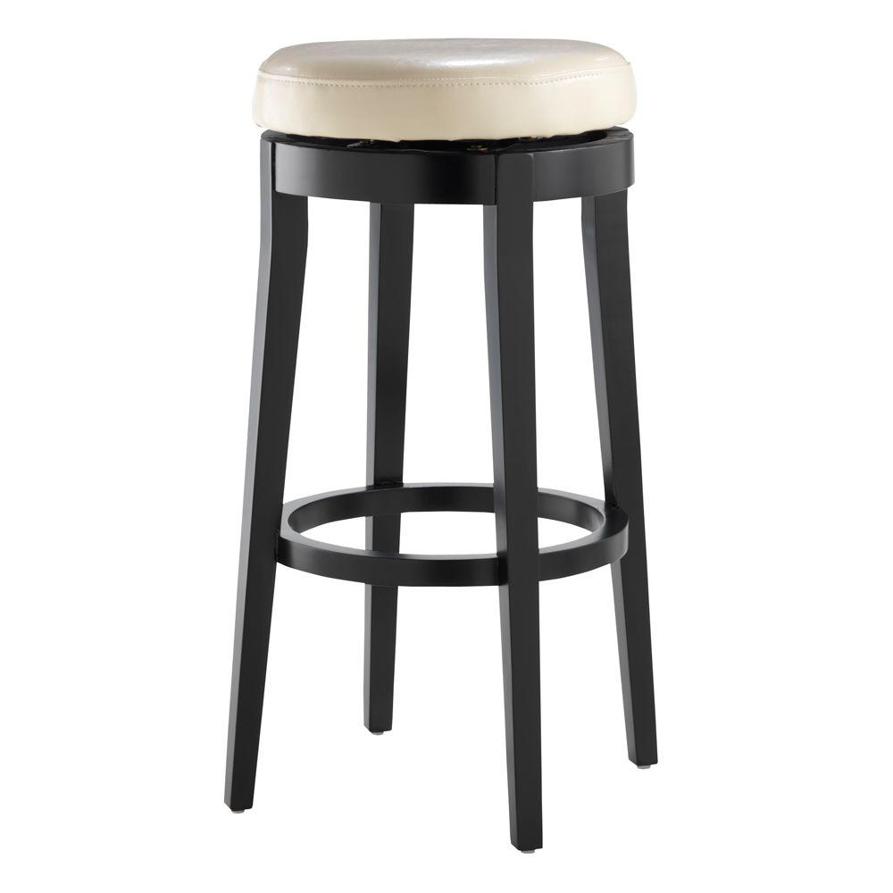 Home decorators collection backless cream 30 in h swivel bar stool 0847100400 on popscreen Home depot wood bar stools