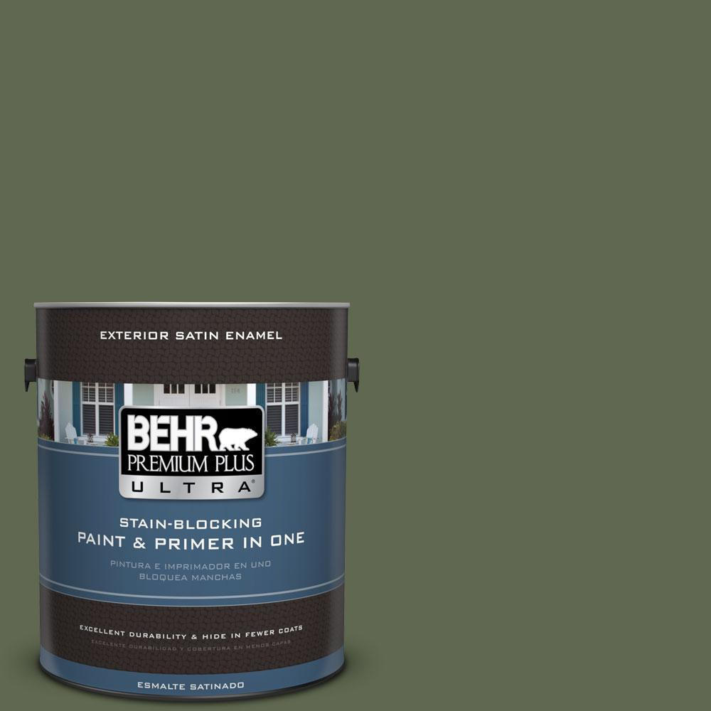 1-gal. #ICC-87 Rosemary Sprig Satin Enamel Exterior Paint