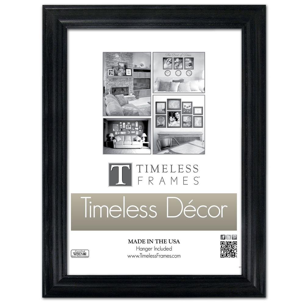 Timeless Frames Brenna 1-Opening 18 in. x 24 in. Black Picture Frame