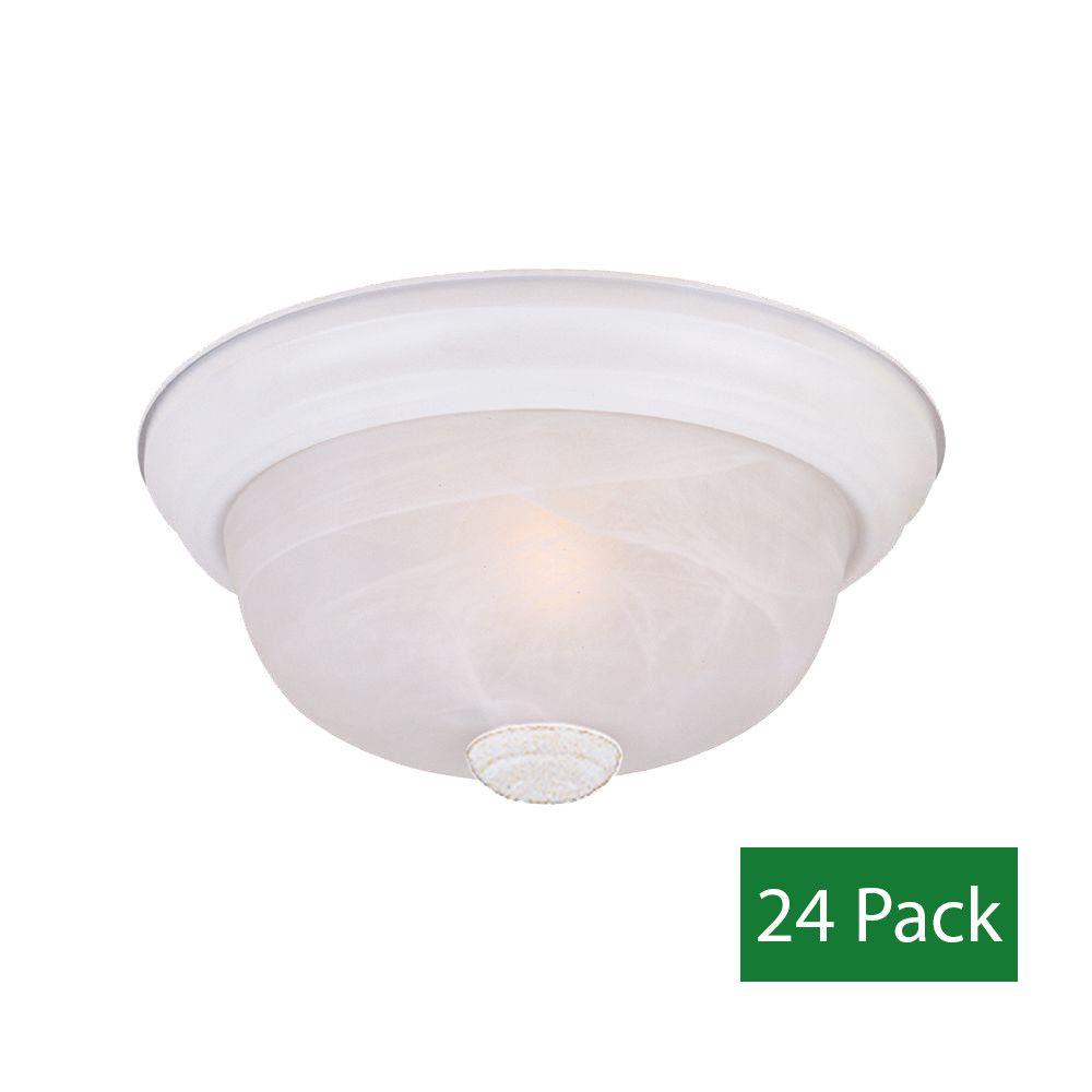 Designers Fountain Reedley Collection 2-Light Solid White Ceiling Flushmount