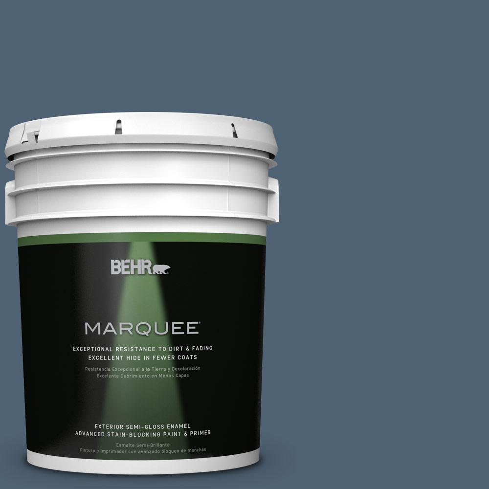 BEHR MARQUEE 5 gal. #T17-17 Midnight Show Semi-Gloss Enamel Exterior