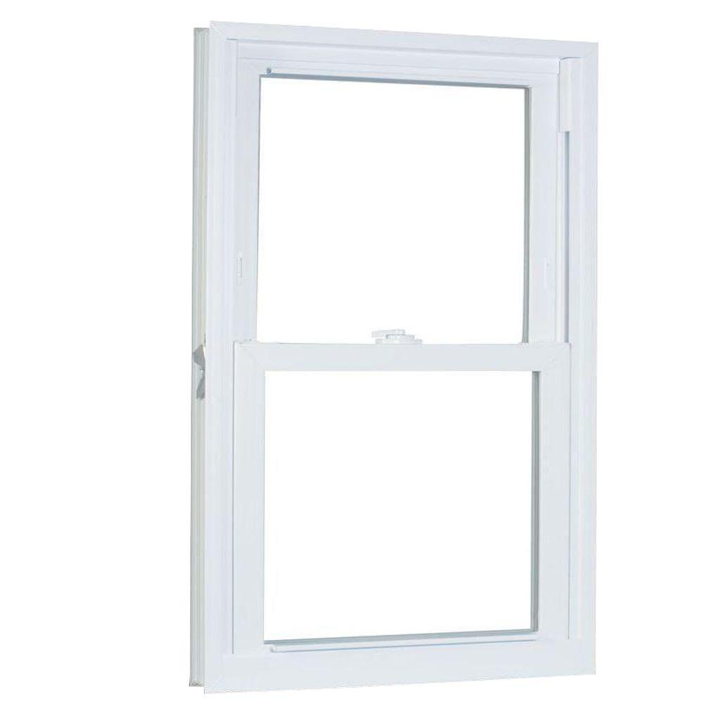 American Craftsman 33.75 in. x 53.25 in. 70 Series Double Hung Buck PRO Vinyl Window - White
