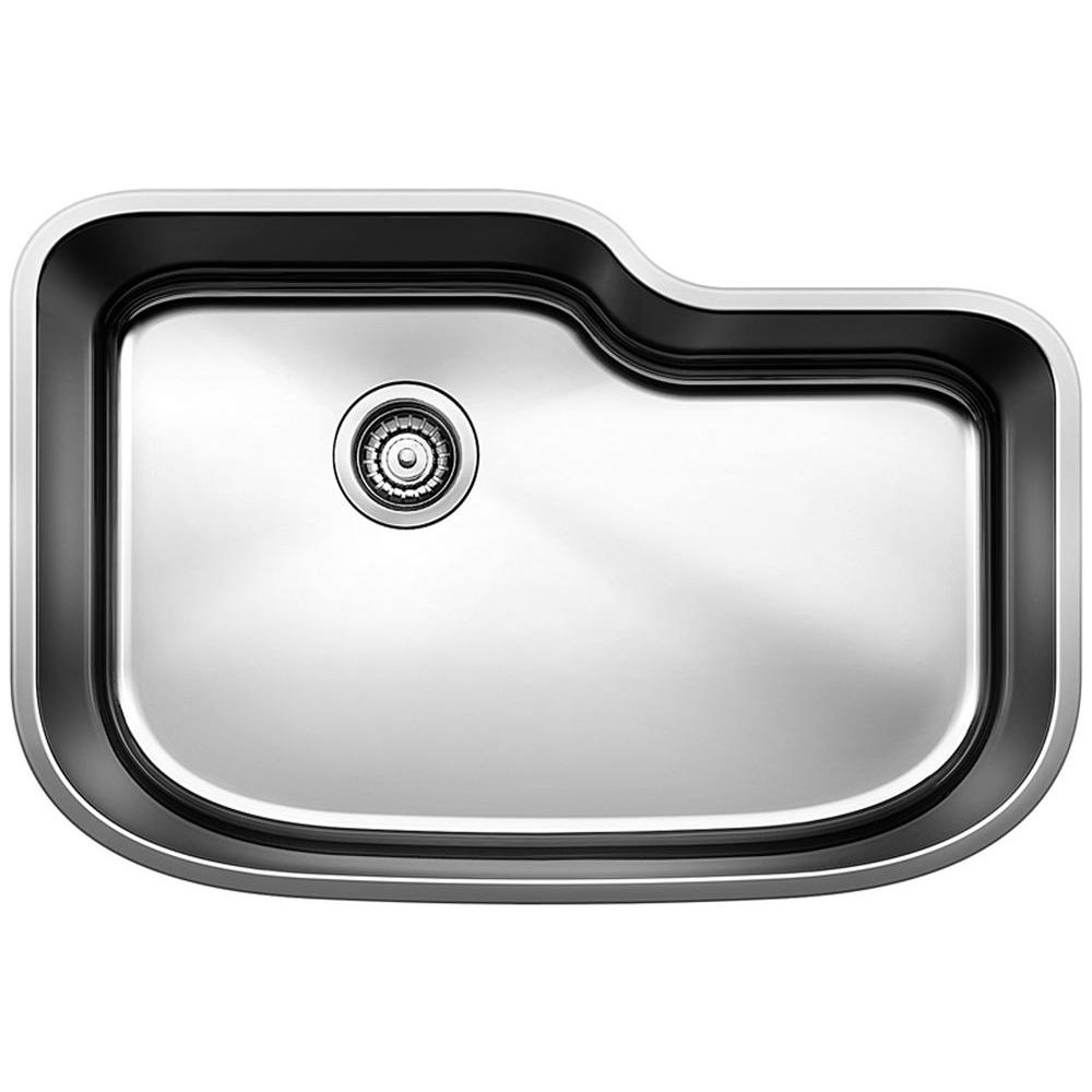 ONE Undermount Stainless Steel 30 in. 0-Hole XL Single Basin Kitchen