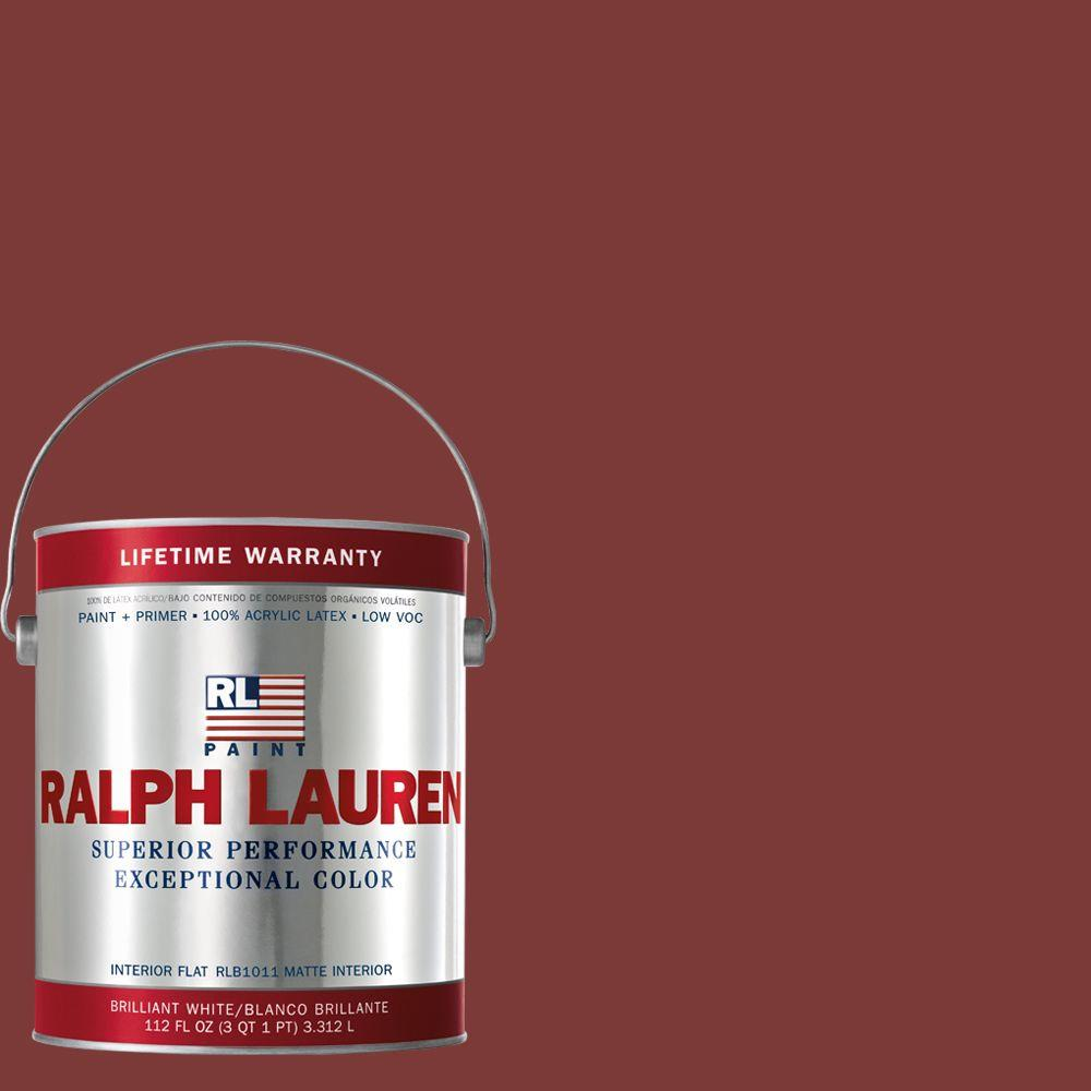 1-gal. Hunting Coat Red Flat Interior Paint