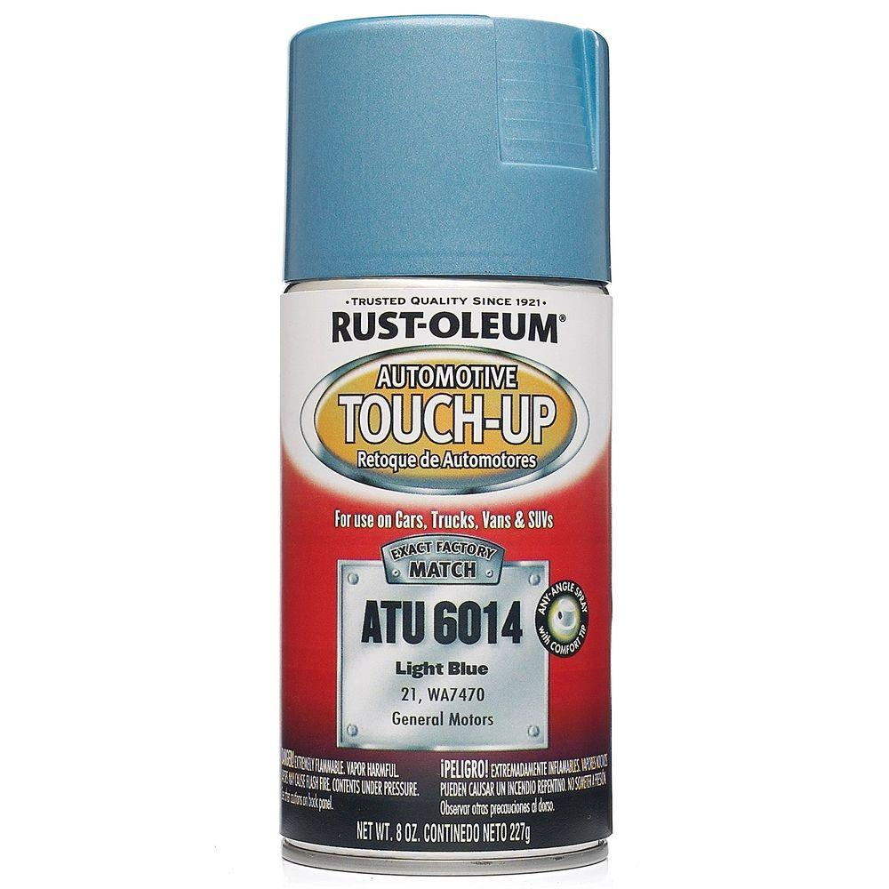 oz light blue auto touch up spray 6 pack atu6014 the home depot. Black Bedroom Furniture Sets. Home Design Ideas