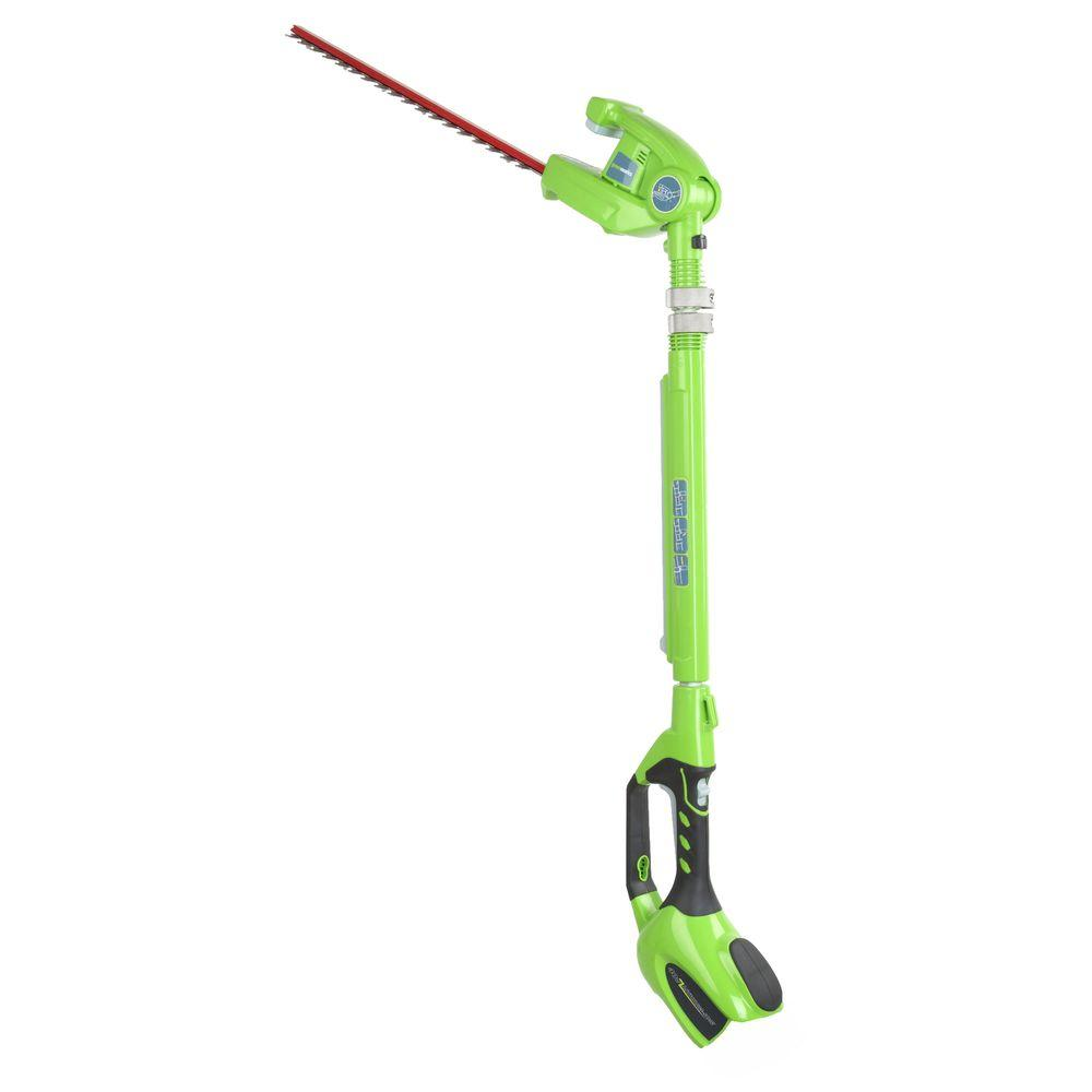 Greenworks G-MAX 20 in. 40-Volt Electric Cordless Extended Reach Hedge Trimmer - Battery and Charger Not Included