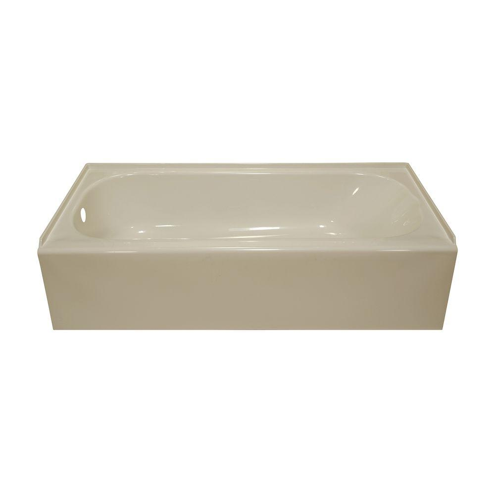 Lyons Industries Victory 4.5 ft. Left Drain Bathtub in Almond