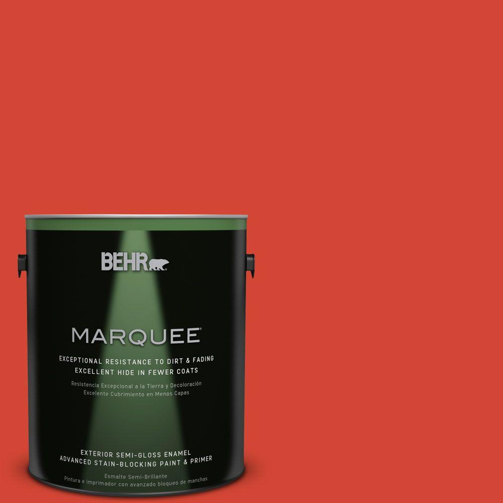 BEHR MARQUEE 1-gal. #S-G-190 Red Hot Semi-Gloss Enamel Exterior Paint