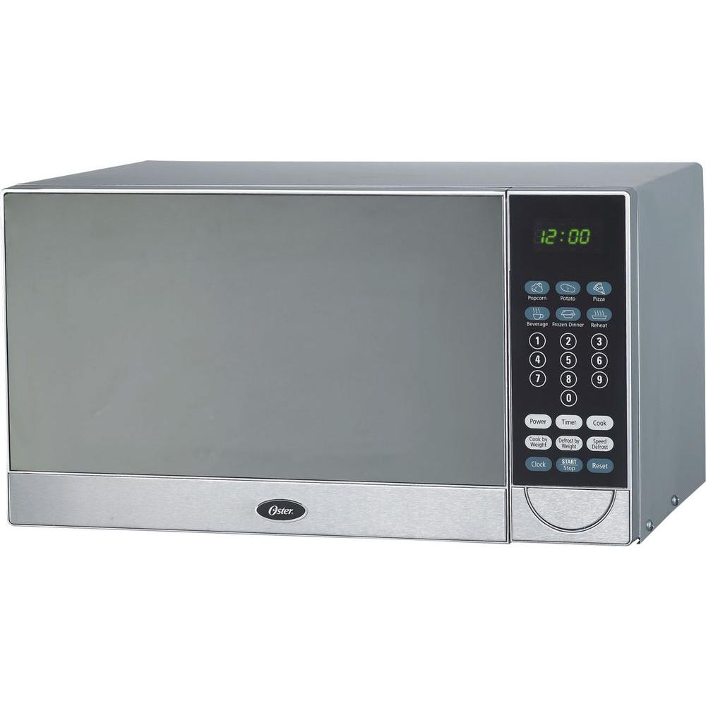 Oster 0.9 cu. ft. Countertop Microwave in Stainless Steel-DISCONTINUED