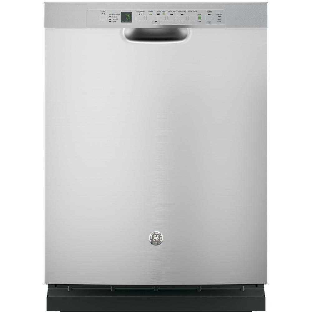 Front Control Built-In Tall Tub Dishwasher in Stainless Steel with Stainless