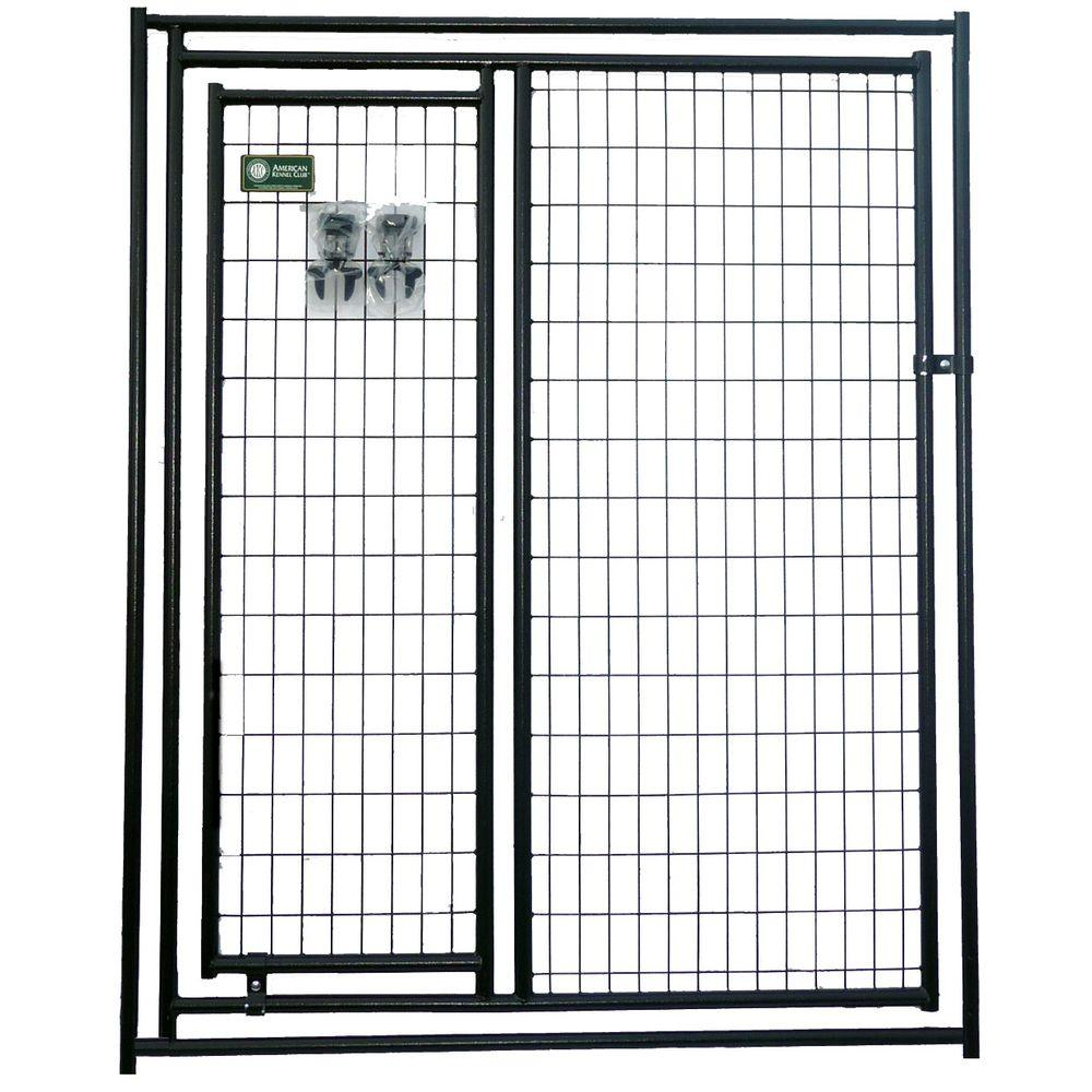 American Kennel Club 6 ft. x 5 ft. Modular Kennel Gate Panel with A Gate Panel