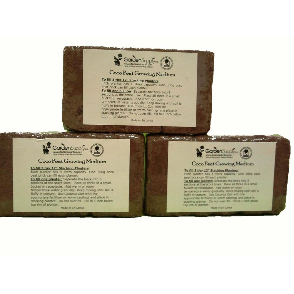 Garden Supply Landscaping Supplies Coco Peat Brick (3-Set) 300coco Seed Starting, Seedling, Seedstarting Supplies, Gardening, Seed-Starting, Garden