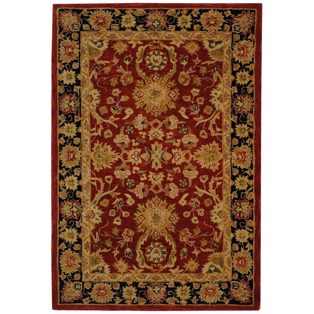 Safavieh Anatolia Red/Navy 5 ft. x 8 ft. Area Rug