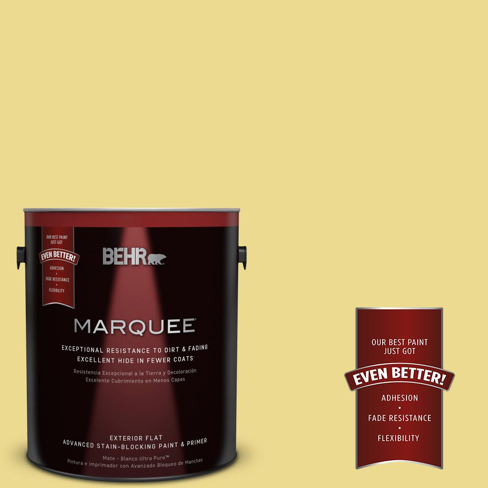 BEHR MARQUEE 1-gal. #P320-4 Pineapple Crush Flat Exterior Paint-445401 - The
