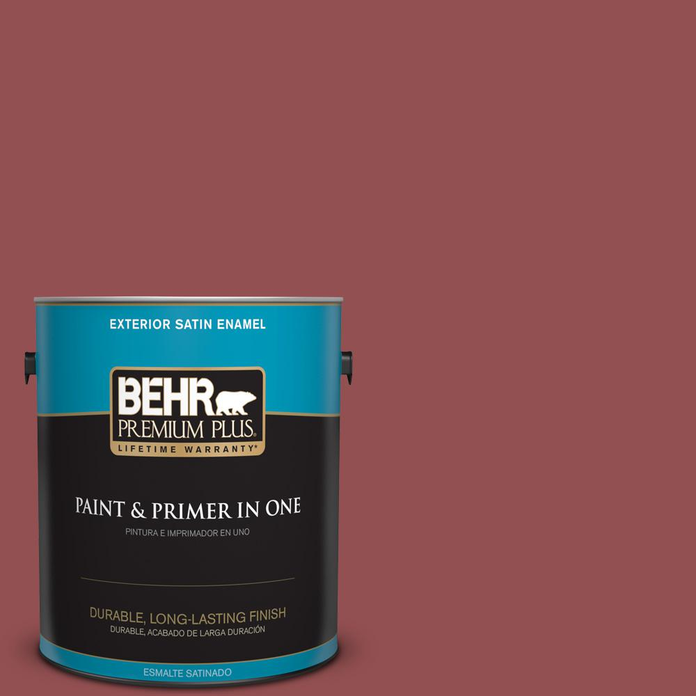 1 gal. #PPU1-08 Pompeian Red Satin Enamel Exterior Paint