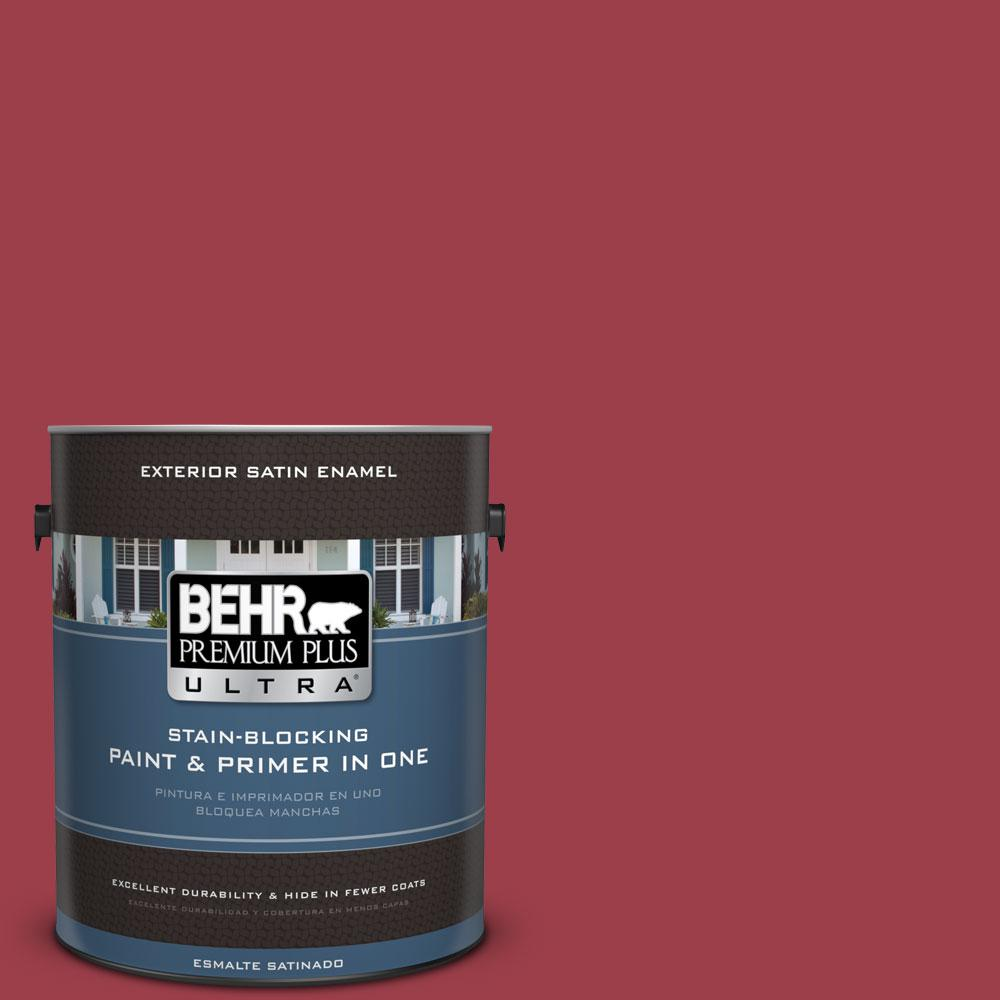 BEHR Premium Plus Ultra Home Decorators Collection 1-gal. #hdc-CL-01 Timeless Ruby Satin Enamel Exterior Paint