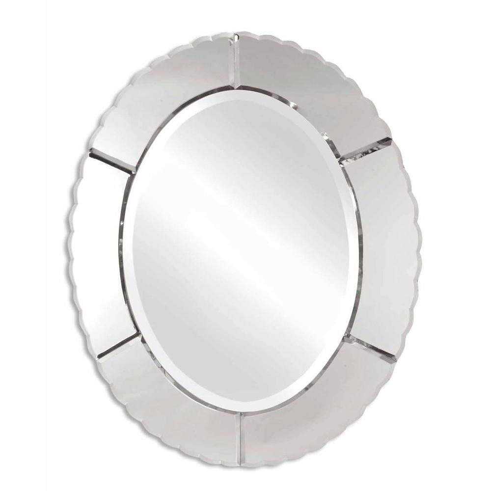 Global Direct 24 in. x 30 in. Decorative Frameless Oval Mirror-DISCONTINUED
