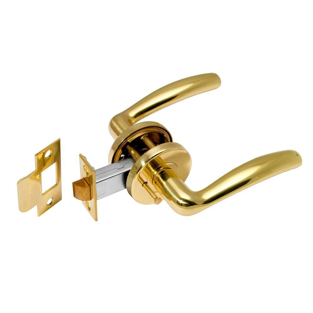 Manital Easy Polished Brass Privacy Lever