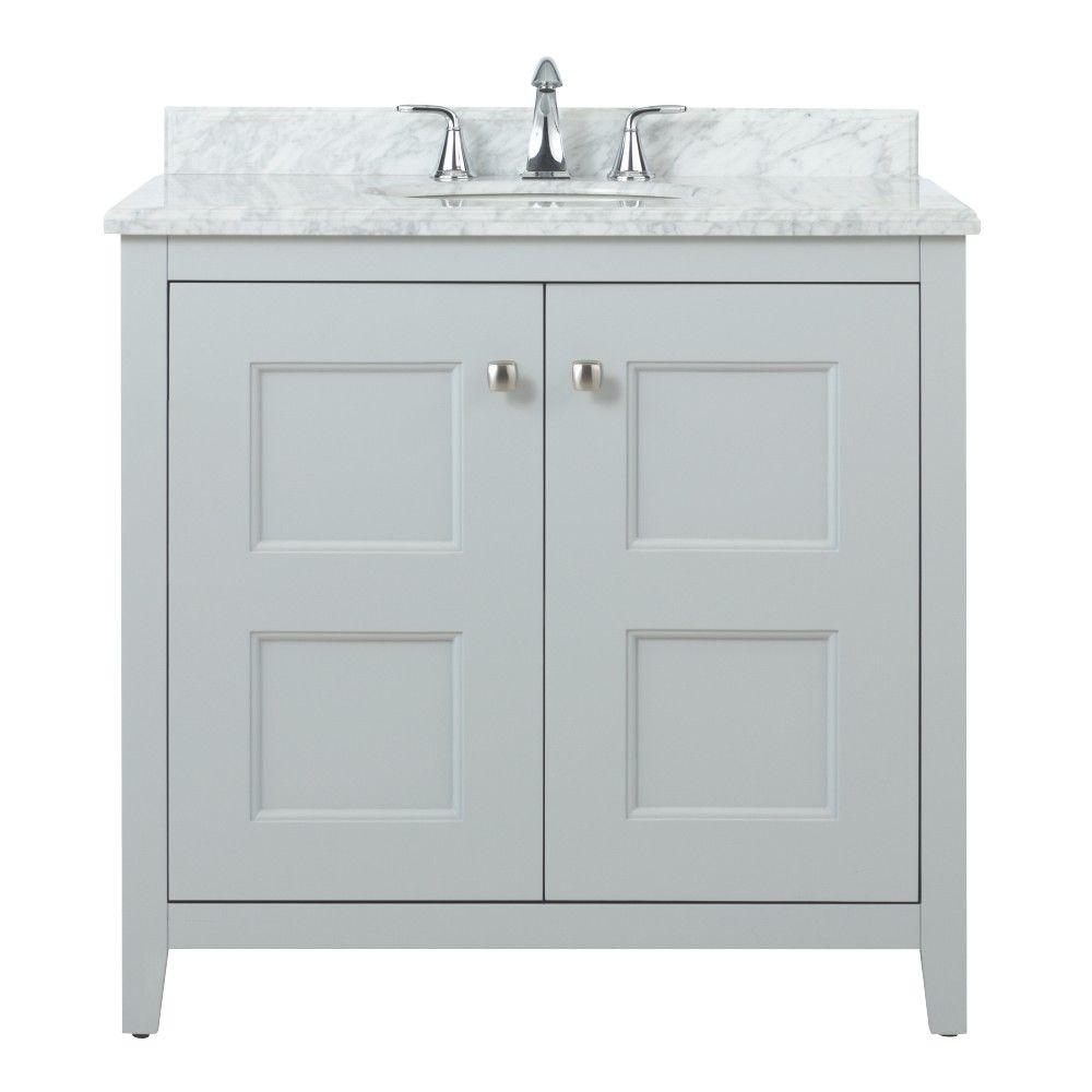 Home decorators collection union square 36 in vanity in dove grey with natural marble vanity Home decorators collection 36 vanity