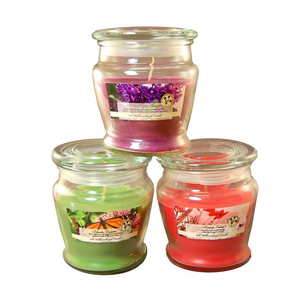 Lumabase 8 oz. Scented Candle Collection Floral (3-Count)-27203 - The Home
