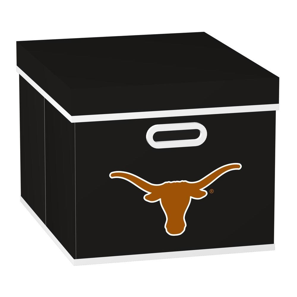 MyOwnersBox College STACKITS University of Texas 12 in. x 10 in. x 15 in. Stackable Black Fabric Storage Cube